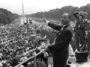 """Martin Luther King Jr., Aug. 28, 1963, when he gave his """"I Have a Dream"""" speech in Washington, D.C."""