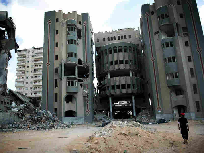 Government buildings destroyed by war