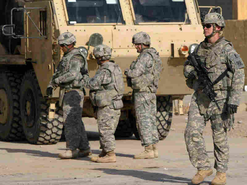 U.S. soldiers on patrol in Iraq