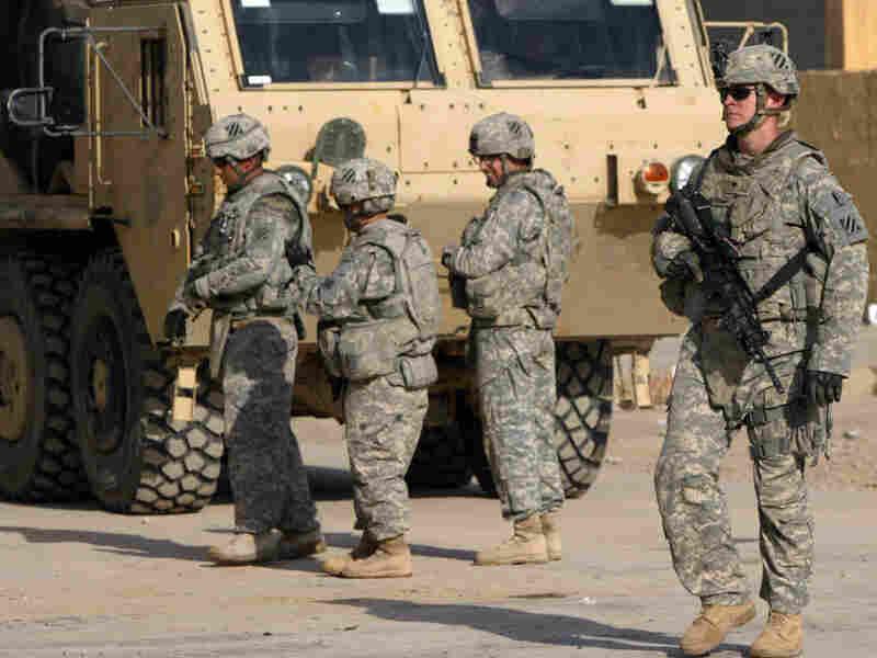 U.S. soldiers on patrol in Iraq