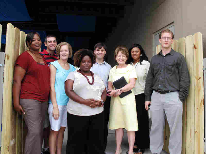 Patricia Perkins (third from right), principal of Morris Jeff Community Schools in New Orleans