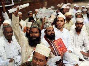 New Delhi protest against planned Quran burning