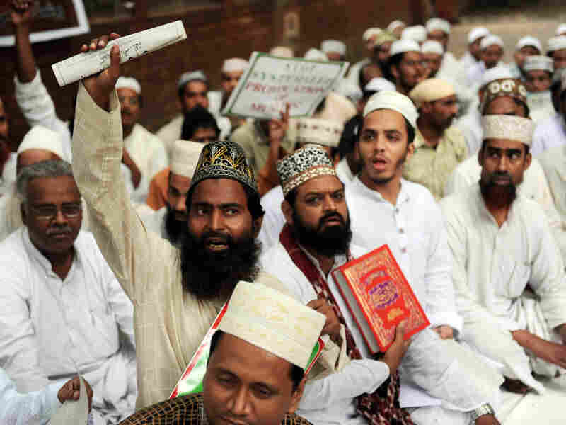 New Delhi protest against planned Quran burning