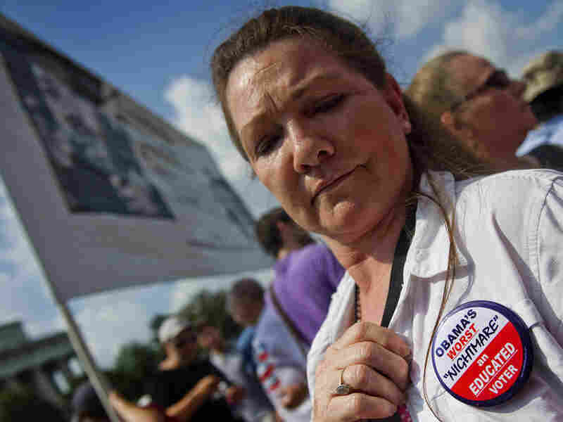 """At broadcaster Glenn Beck's """"Restoring Honor"""" rally Saturday, this woman had a message for Obama."""