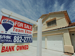 A foreclosed, and for sale, home in the Spring Valley area of Las Vegas; Aug. 22, 2010.