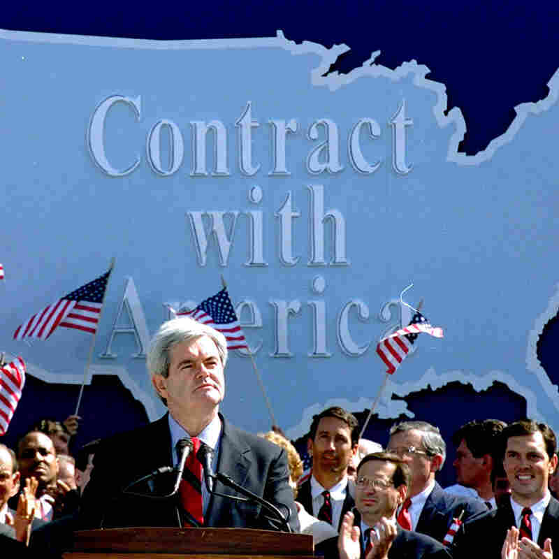 GOP's 'Pledge' Echoes 'Contract'; But Much Myth Surrounds '94 Plan