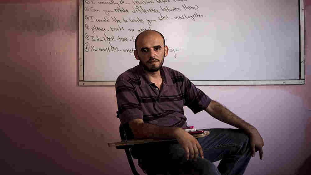 Gazan teacher Mohammed Saqar