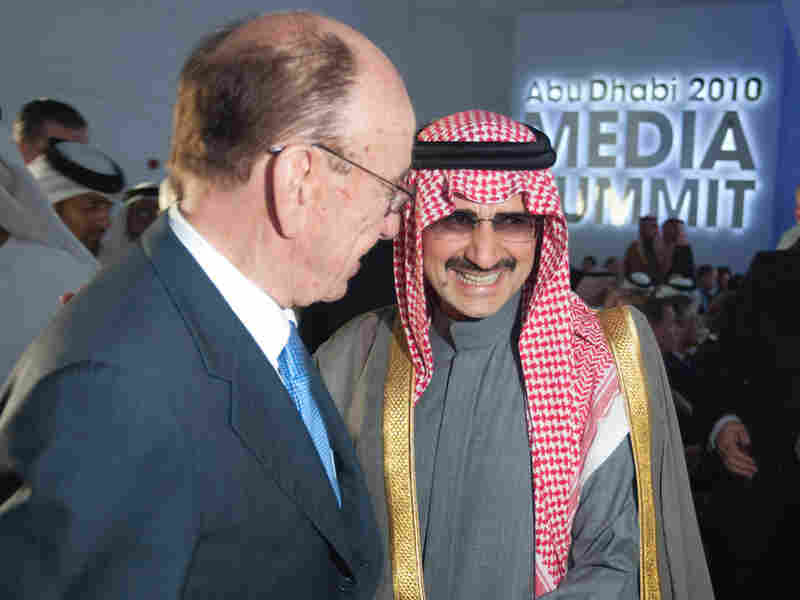 Rupert Murdoch with Prince Al Waleed bin Talal at the Abu Dhabi Media Summit in March.