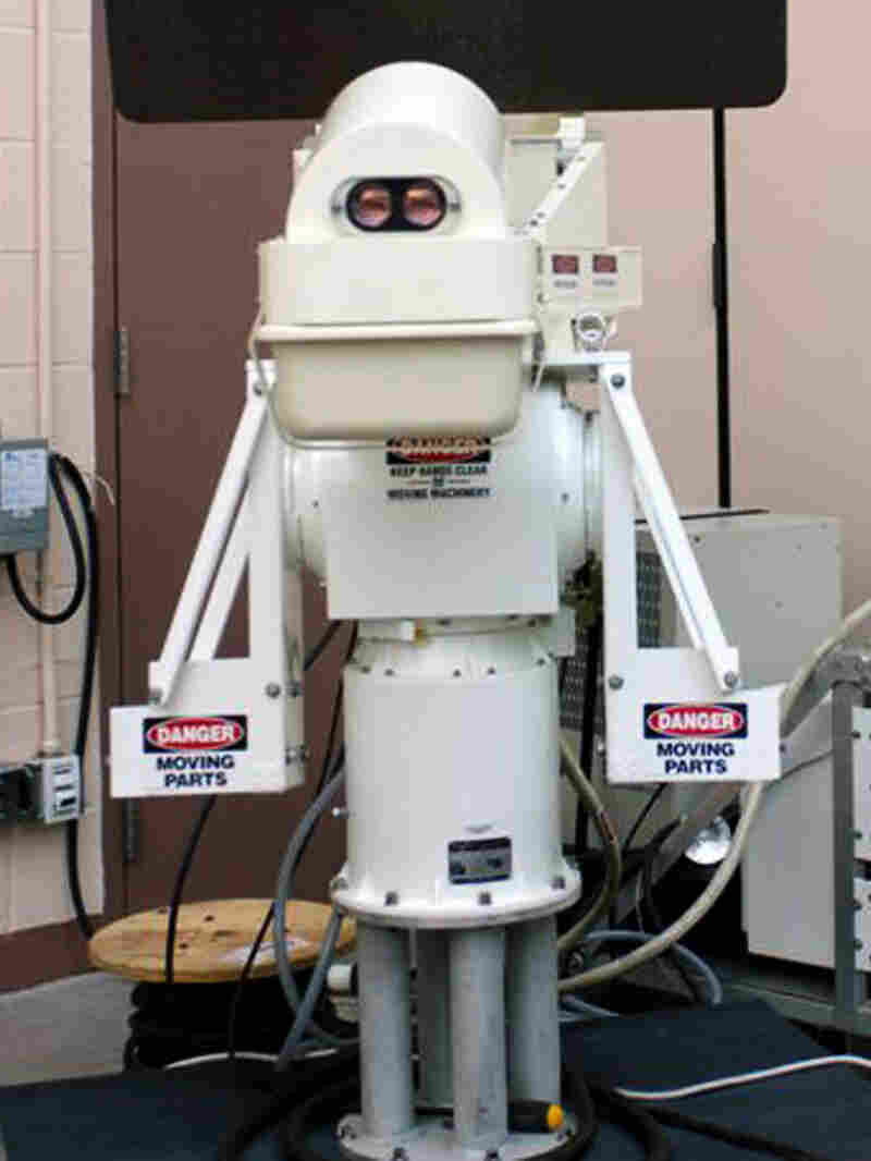 An Assault Intervention Device stands at the Pitchess Detention Center's North County Correction Facility.