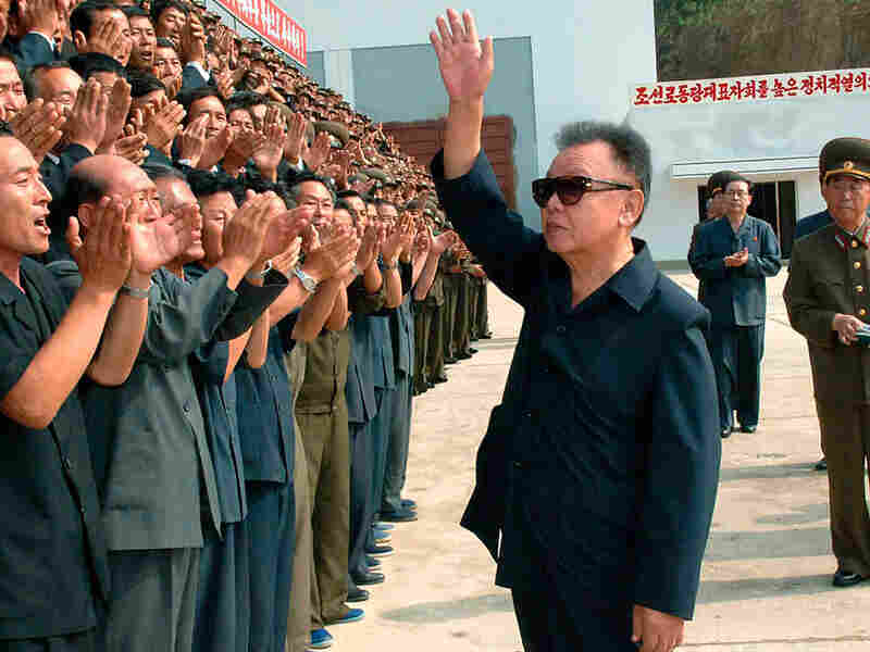 Kim Jong Il at a power station construction site in South Hamyong province
