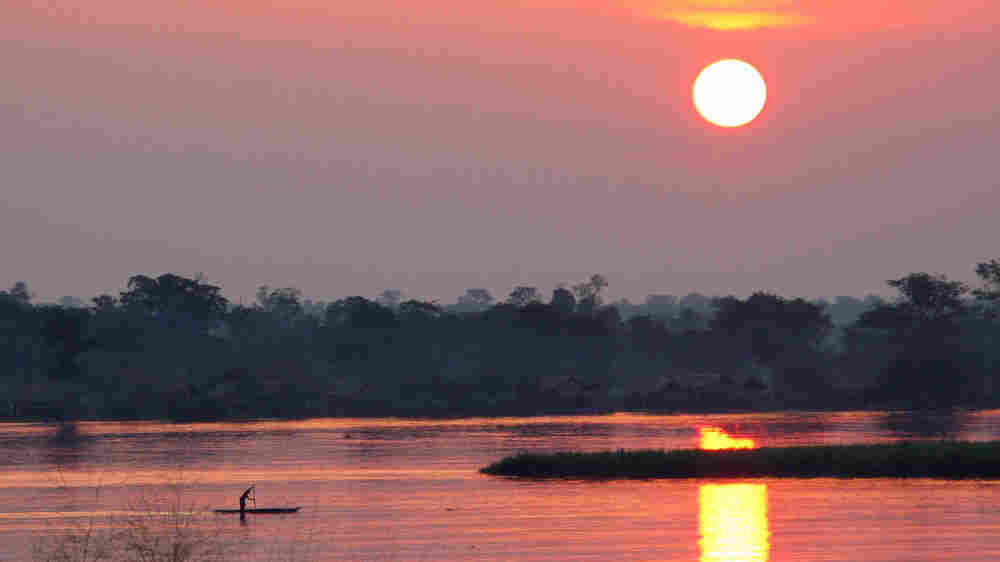 Congo River sunset