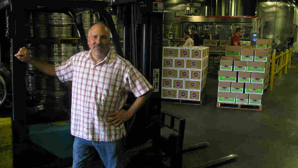 Gene Muller, president of the Flying Fish brewery
