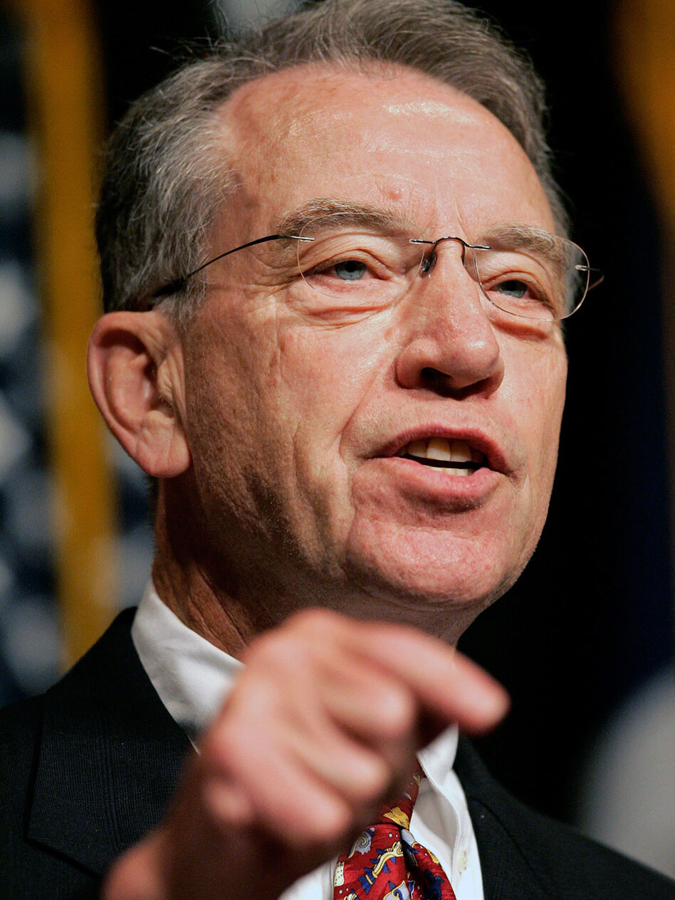 Sen. Chuck Grassley of Iowa, the Senate Finance Committee's top Republican, says small businesses will be especially hurt if the top two tax brackets go up.
