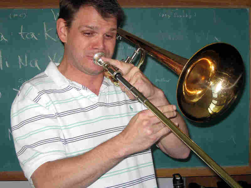"""I coughed. I had a horrible deep barking cough -- especially when I played trombone,"" Scott Bean says."