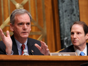 Republican Sen. Judd Gregg and Democrat Sen. Ron Wyden