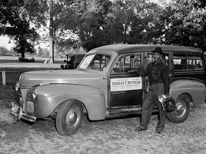 Ernest C. Withers and his 1941 Ford Wagon