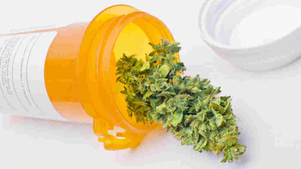 A vial of medical marijuana.