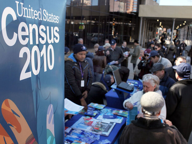 Census workers inform ethnic Russians of the upcoming census count in New York City's Brighton Beach neighborhood.