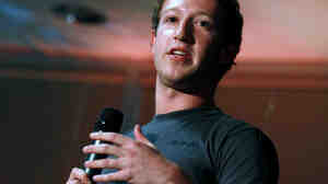 Facebook CEO Mark Zuckerberg speaks during a news conference at company headquarters in Palo Alto, Calif.