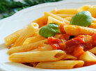People with celiac disease can't eat foods with gluten, including most pastas.