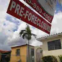 A pre-foreclosure sign in front of a Miami home