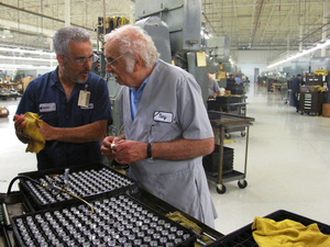 Anthony Maglica, the founder of Mag Instrument, on the factory floor in Ontario, Calif.
