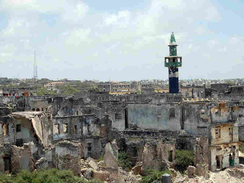Much of Mogadishu lies in ruins after two decades of civil war.