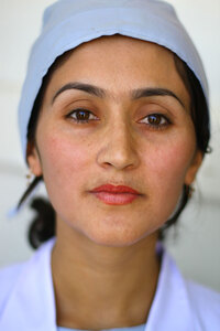 Farangis Sultani is one of two midwives at Badakhshan province's Shatak village medical clinic.