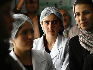 Young women study midwifery in Badakhshan