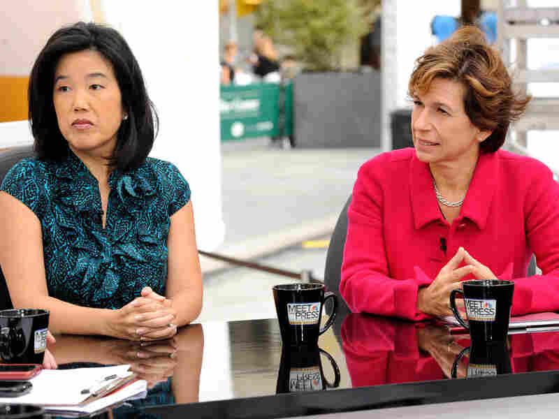 Michelle Rhee and Randi Weingarten