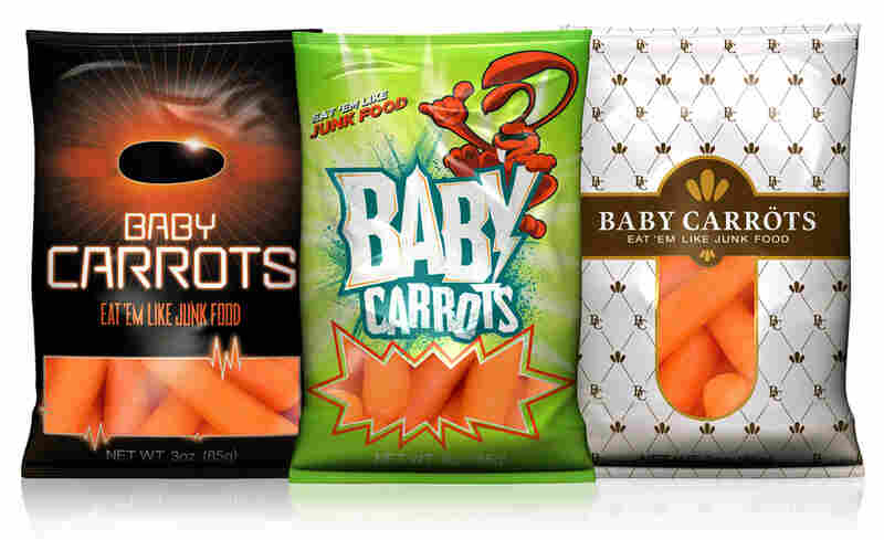 Packages of baby carrots