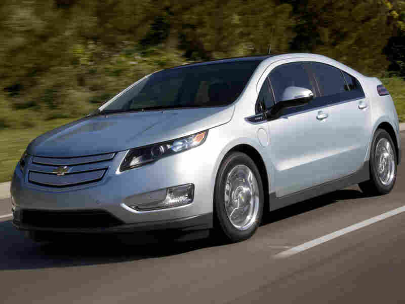 The Chevy Volt on the road