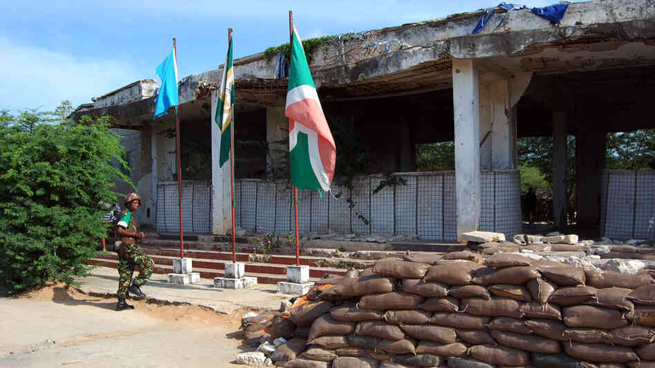 The remains of Somali National University now serve as a base for African Union troops