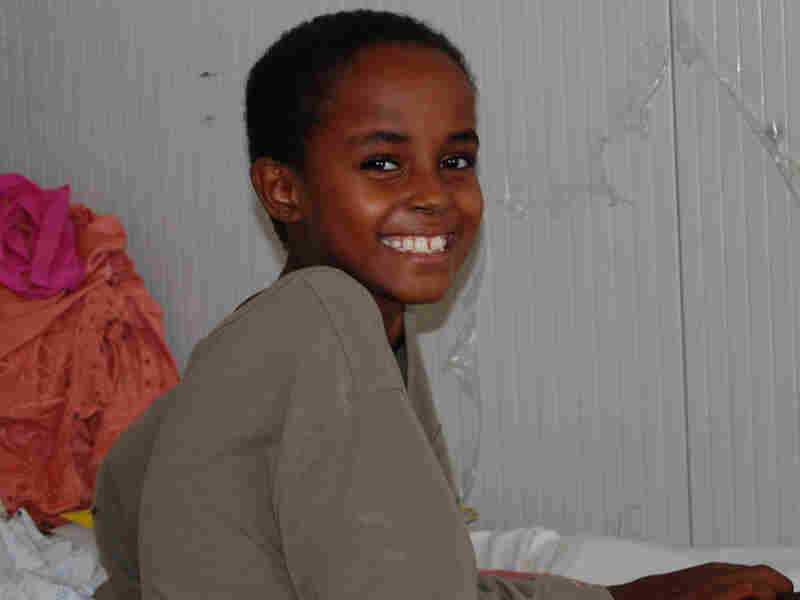 Howa Mudi, 10, lost both legs in a mortar attack