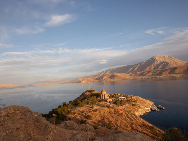 A view of Lake Van in September 2010.