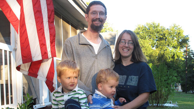 Darryl and Kristina Pendergrass and their sons, William, 3, and Ian, 20 months. The family gets by on Daryl's $43,000-a-year salary as a biologist with the Alabama Department of Public Health. (NPR)