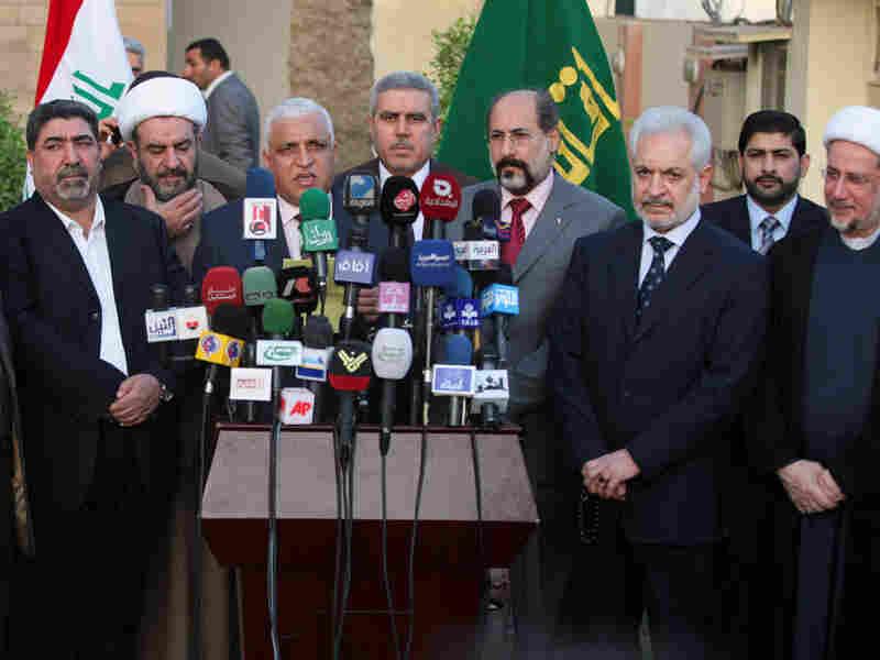 Sadr, Maliki teams hold news conference