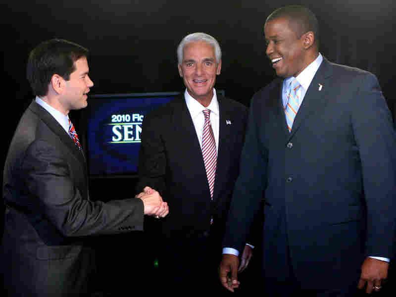 Florida U.S. Senate candidates Marco Rubio, Charlie Christ and Kendrick Meek.