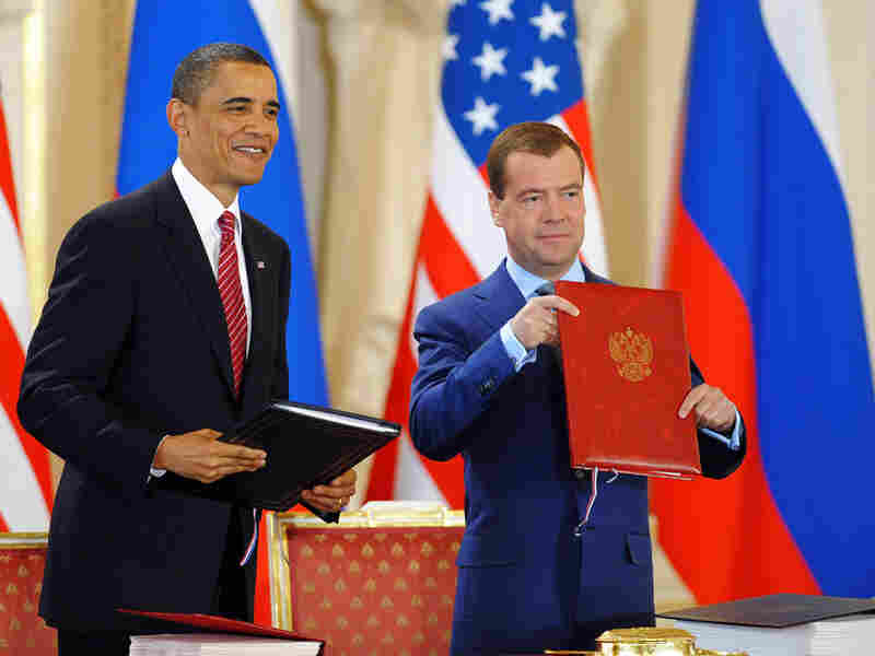 President Obama with Russian President Dmitry Medvedev