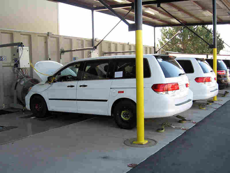 The DOE bought these 2009 Honda Odyssey minivans and is putting 120,000 miles on them.