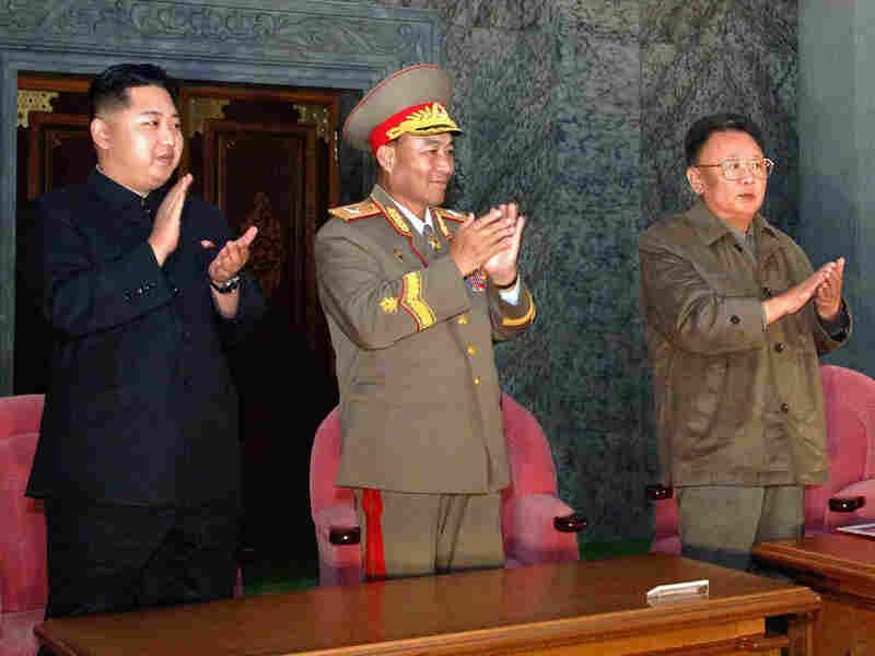 North Korean leader Kim Jong Il and his son Kim Jong Un