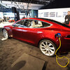 Tesla's Model S on display in Detroit