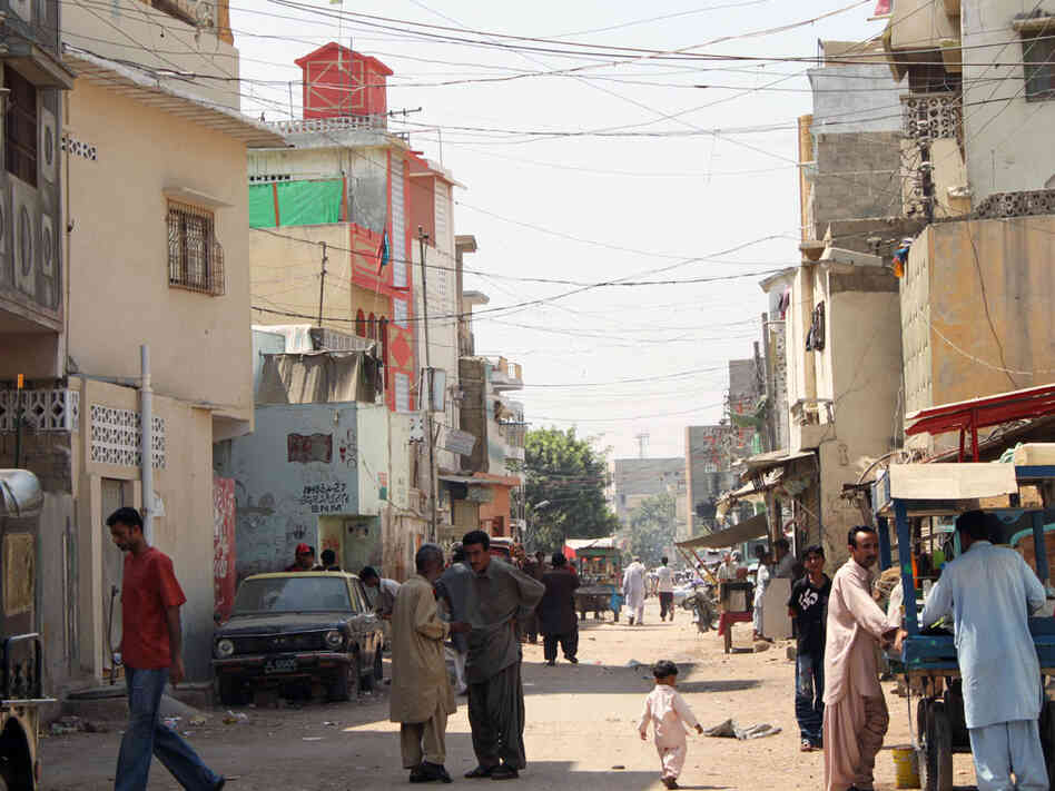 Baluch Para neighborhood in Karachi is home to about 10,000 people