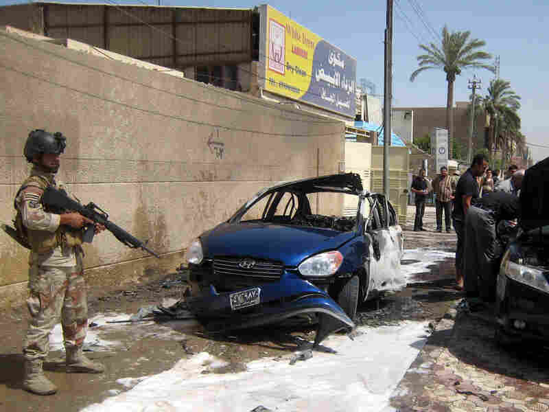 A sticky bomb was attached to the vehicle belonging to an employee of the Iraqi Parliament