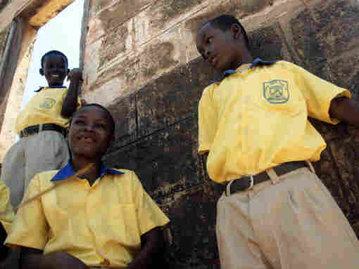 "Pupils at Axim Methodist Primary School, along Ghana's new ""oil coast""."