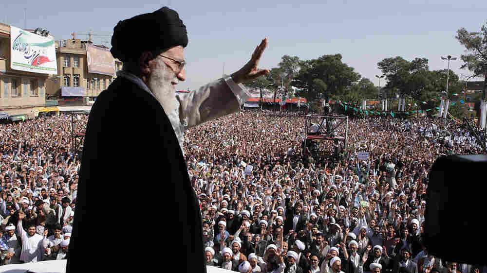 Iranian supreme leader Ayatollah Ali Khamenei in Qom