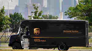 A hydraulic-hybrid UPS delivery truck in Philadelphia.