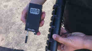 The FBI's GPS tracking device that was found under Yasir Afifi's car.