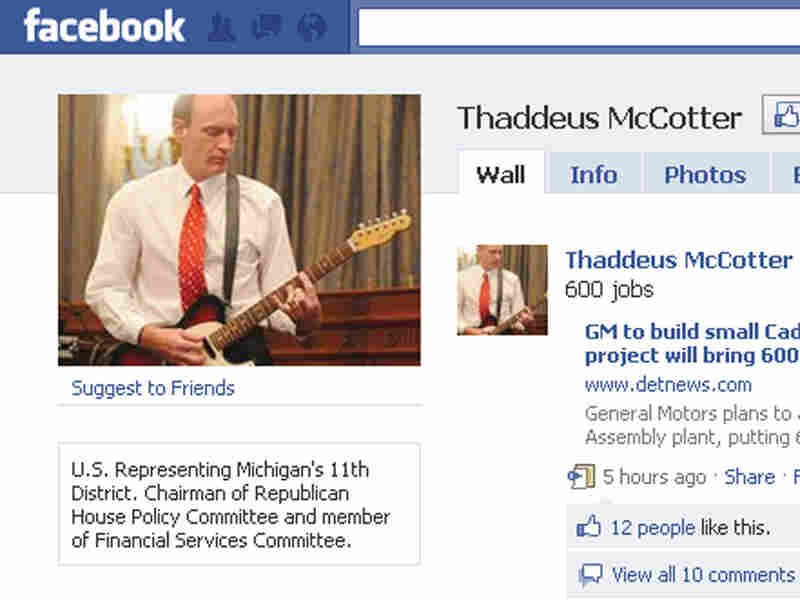 From the Facebook page of Rep. Thaddeus McCotter, R-Mich.