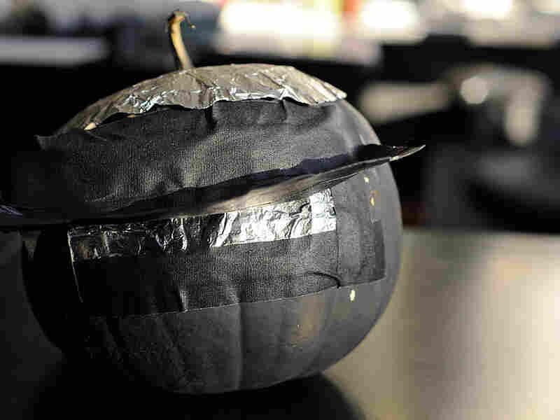 A pumpkin turned into a camera